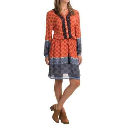 Max Jeans Tie-Waist Dress - Long Sleeve (For Women) in Cayman Combo - Closeouts