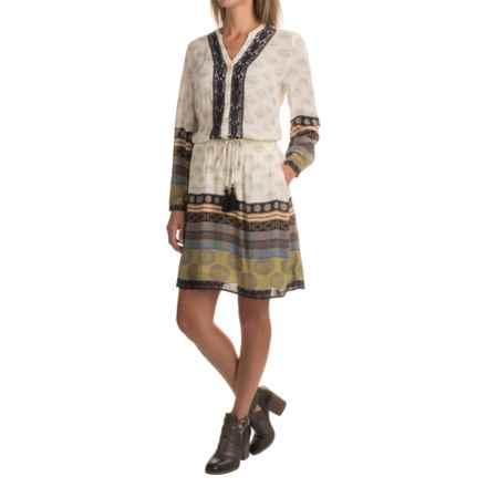 Max Jeans Tie-Waist Dress - Long Sleeve (For Women) in Ekua Combo - Closeouts