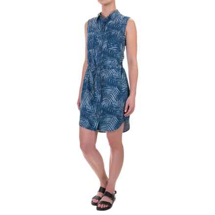 Max Jeans Tie-Waist Dress - TENCEL®, Sleeveless (For Women) in Tropical Leaves Print - Closeouts