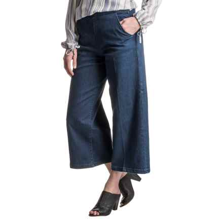 Max Jeans Wide-Leg Gaucho Jeans (For Women) in Wedy Wash - Closeouts