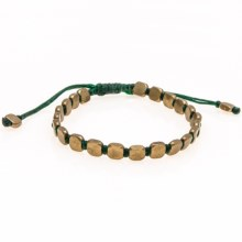 Max Reed Brass Beads Bracelet (For Men and Women) in Green/Brass - Closeouts