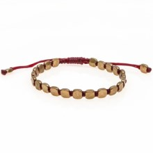 Max Reed Brass Beads Bracelet (For Men and Women) in Red/Brass - Closeouts