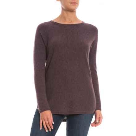 Max Studio Back Zip Cashmere Sweater (For Women) in Smokey Raisin Heather - Closeouts