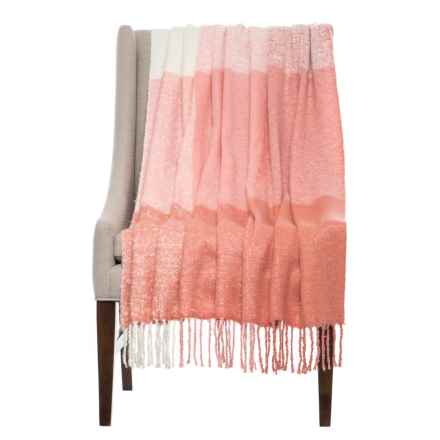 "Max Studio Bluffton Throw Blanket - 50x60"" in Pink - Closeouts"