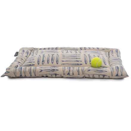 "Max Studio Canada Fish Canvas Dog Crate Mat - 30x19"" in Navy - Closeouts"