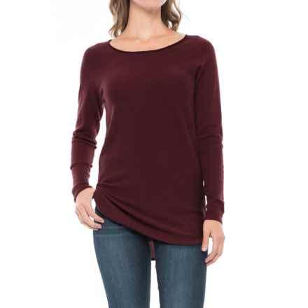 Max Studio Cashfeel Tunic Shirt - Merino Wool, Long Sleeve (For Women) in Mahogany - Closeouts
