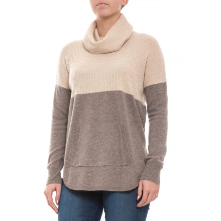 5d529f3586 Max Studio Cashmere Sweater - Cowl Neck, Long Sleeve (For Women) in Rice