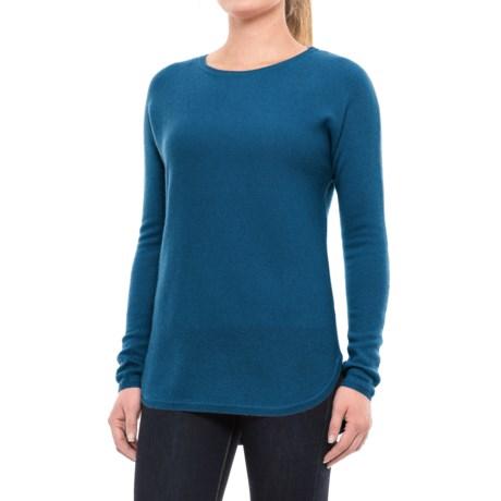 Max Studio Cashmere Sweater - Crew Neck (For Women) in Mallard Solid