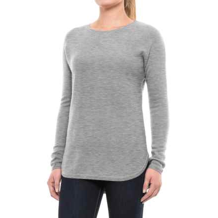 Max Studio Cashmere Sweater - Crew Neck (For Women) in Steeple Grey Heather - Closeouts