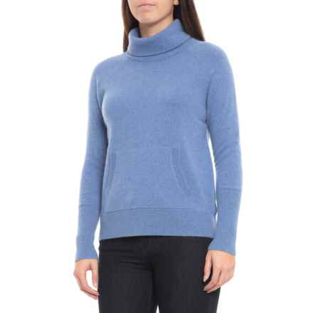 114b8e5db70566 Max Studio Cashmere Turtleneck Sweater - Long Sleeve (For Women) in True  Blue Heather