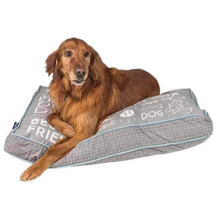 """Max Studio Chalkboard Rectangle Dog Bed - 40x28"""" in Grey - Closeouts"""