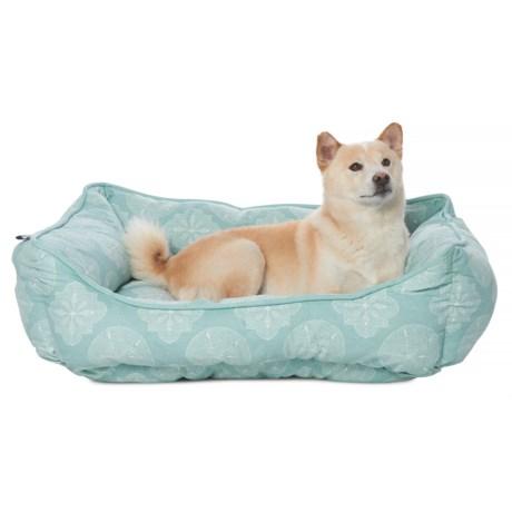 "Max Studio Coastal Sand Dollar Lounger Dog Bed - 28x22"" in Seafoam Blue"
