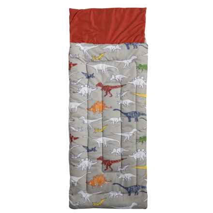 Max Studio Colorbook Dino Sleeping Bag (For Kids) in Grey/Multi - Closeouts
