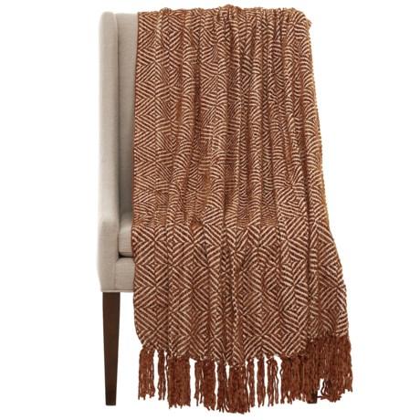 "Max Studio Diamond Chenille Throw Blanket - 50x60"" in Camel"
