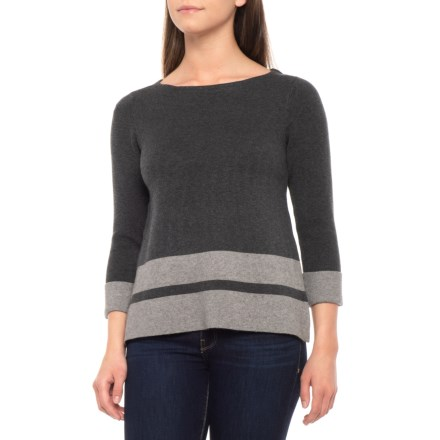 384a2bd536d419 Max Studio Double-Knit Pullover Sweater - Boat Neck