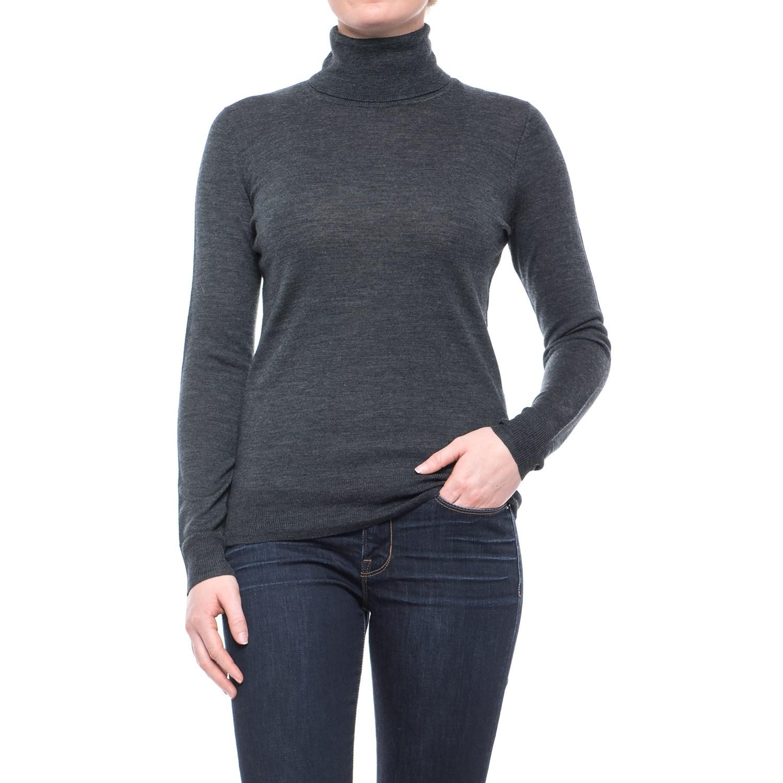 Max Studio Extra-Fine Merino Wool Turtleneck Sweater (For Women ...