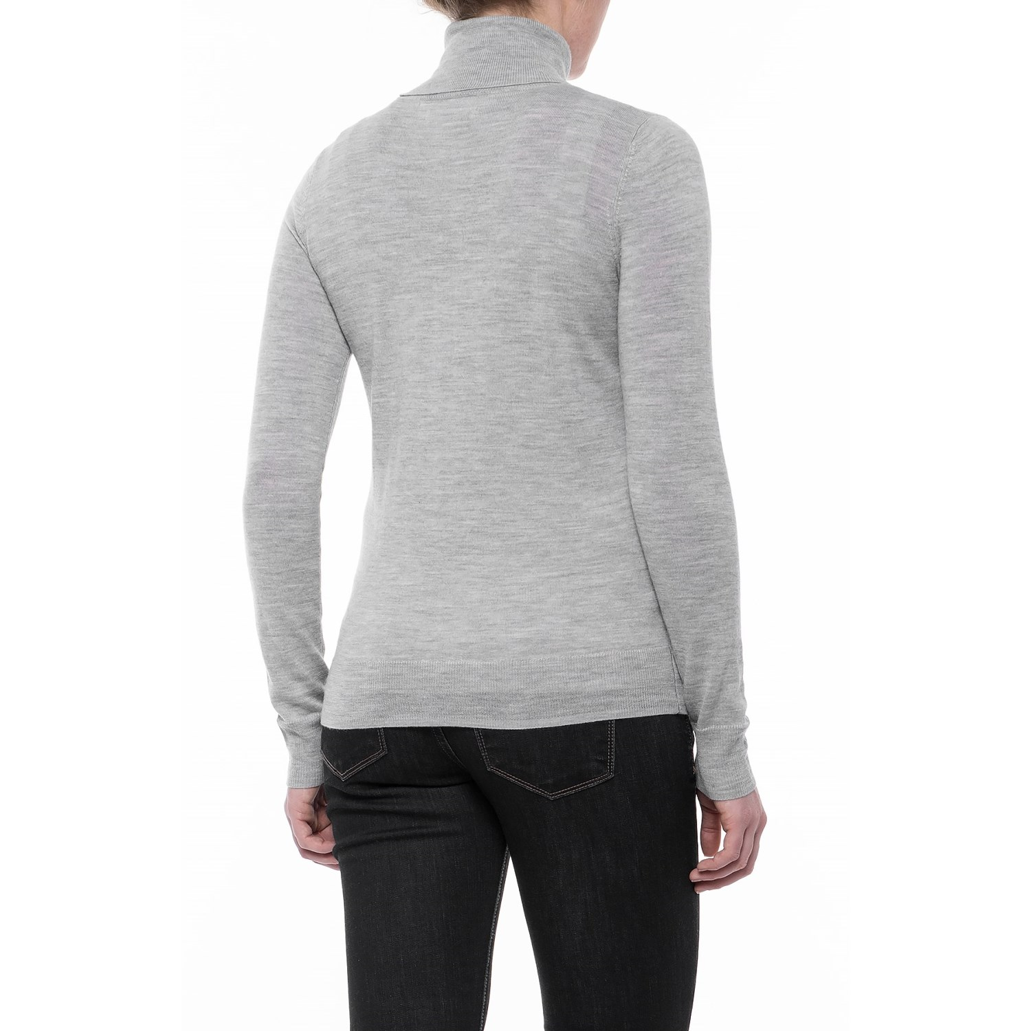 Max Studio Extra-Fine Merino Wool Turtleneck Sweater (For Women ...