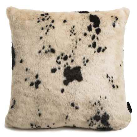 """Max Studio Faux-Cowhide Throw Pillow - 20x20"""" in Brown - Closeouts"""