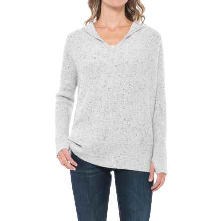 Max Studio Hooded Cashmere Sweater (For Women) in Polar Heather - Closeouts
