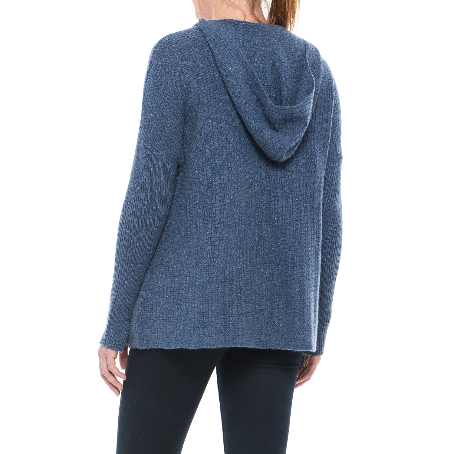 Max Studio Hooded Cashmere Sweater (For Women) - Save 47%