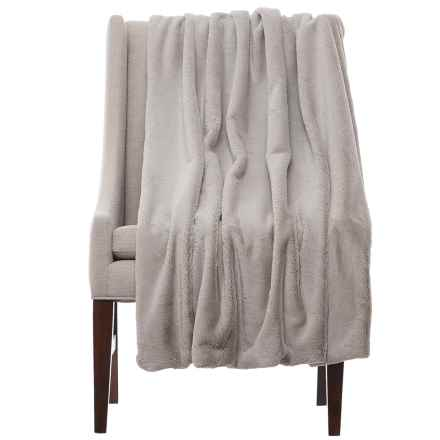 "Max Studio Koda Solid Throw Blanket - 50x60"" in Grey - Closeouts"