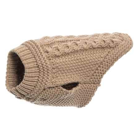 Max Studio Manuel Dog Sweater - Small/Medium Dog in Seasame - Closeouts