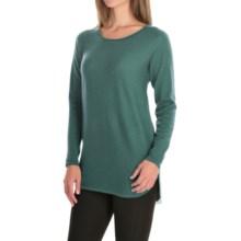 Max Studio Merino Wool Sweater - Scoop Neck (For Women) in Greentea Heather - Closeouts