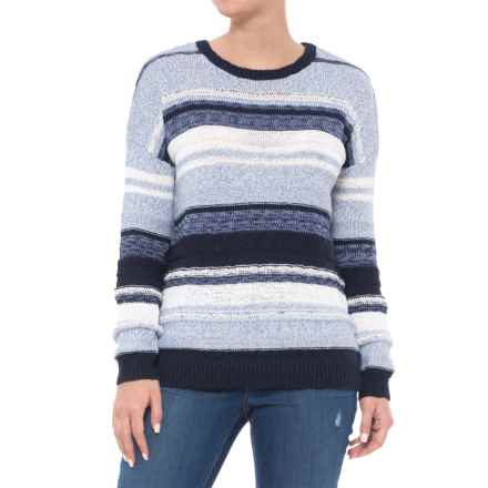 Max Studio Mixed Yarn Sweater (For Women) in Blue Combo - Closeouts