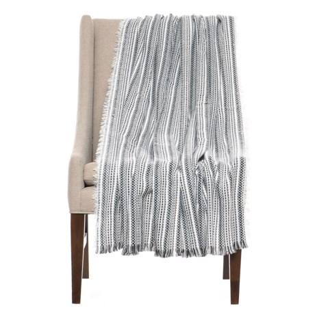 "Max Studio Ocean City Throw Blanket - 50x60"" in Black/White"
