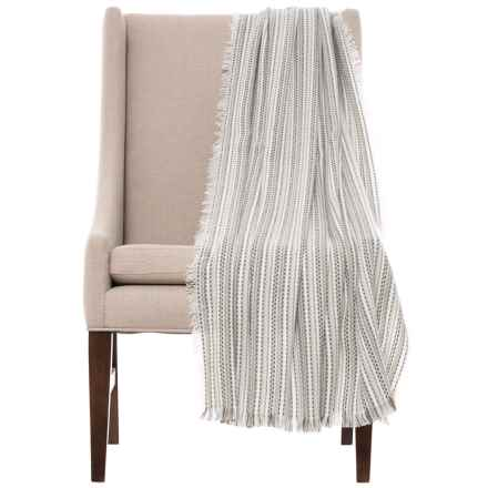 Max Studio Ocean City Throw Blanket 50x60 In Neutral Closeouts