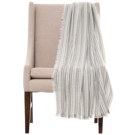 "Max Studio Ocean City Throw Blanket - 50x60"" in Neutral"