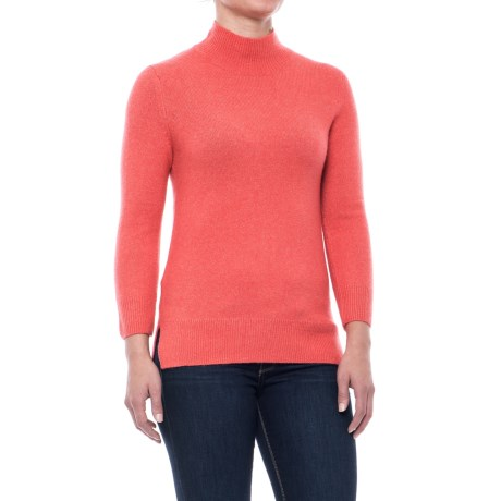 Max Studio Recovery Yarn Mock Turtleneck - Long Sleeve (For Women) in Firecracker Solid