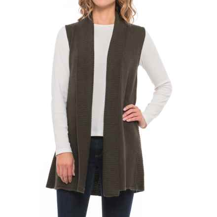 Max Studio Shawl Collar Cardigan Sweater Vest (For Women) in Chive Heather - Closeouts