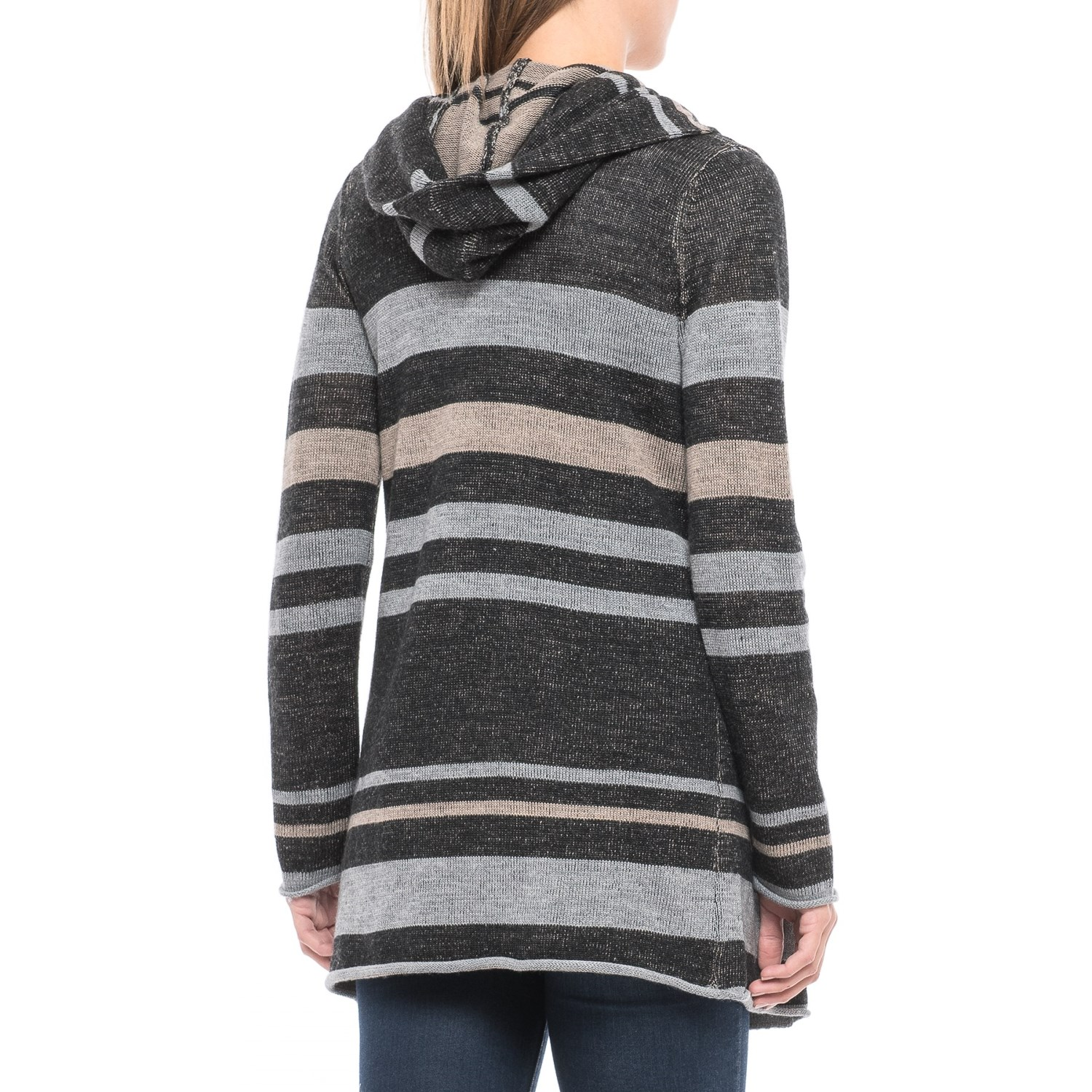 Max Studio Striped Hooded Cardigan Sweater (For Women) - Save 50%
