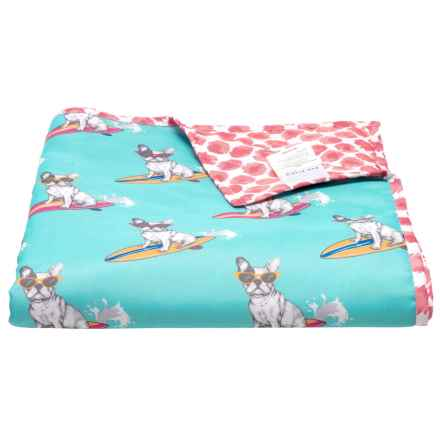 "Max Studio Surfboard Dog Picnic Blanket - 50x60"" in Blue - Closeouts"