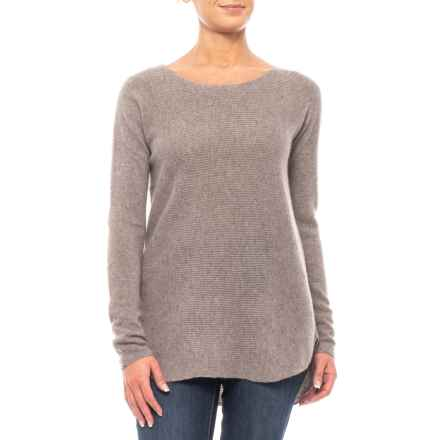 Max Studio Textured Cashmere Shirt - Long Sleeve (For Women) in Taupe Night Heather - Closeouts