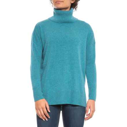 Max Studio Turtleneck Cashmere Sweater (For Women) in Baltic Heather - Closeouts