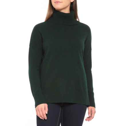 b03f3d13c5 Max Studio Turtleneck Cashmere Sweater (For Women) in Emerald Heather -  Closeouts