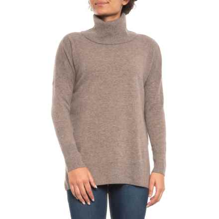 Max Studio Turtleneck Cashmere Sweater (For Women) in Taupe Night Heather - Closeouts