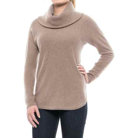 Max Studio Turtleneck Sweater - Cashmere (For Women) in Taupe Night Heather - Closeouts
