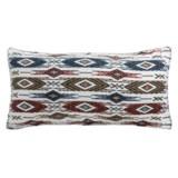 """Max Studio Woven Chevron Checker Decor Pillow - 17x35"""""""