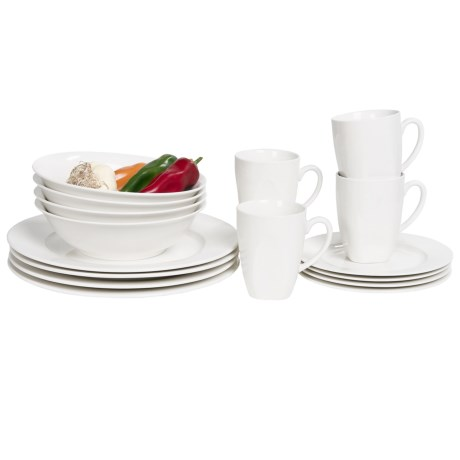 Maxwell and Williams Basics Soho Dinner Set 16 Piece