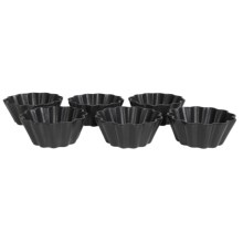 Maxwell & Williams Microstoven Fluted Flan Baking Dish - Set of 6 in Black - Overstock