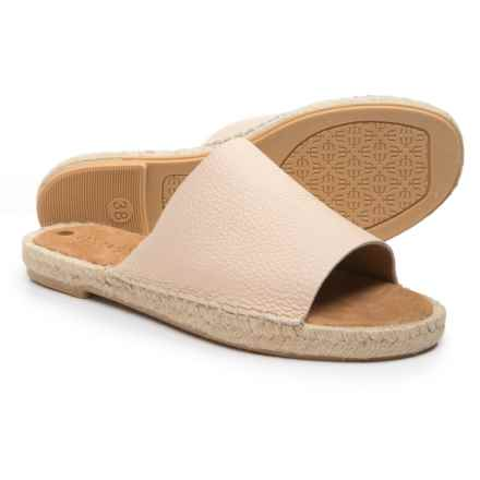 Maypol Made in Spain Mali 18B Flat Sandals - Leather (For Women) in Nude - Closeouts