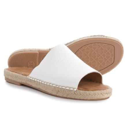 Maypol Made in Spain Mali 18B Flat Sandals - Leather (For Women) in White - Closeouts