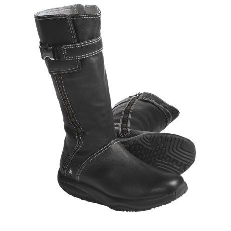 "MBT Goti Casual Mid Boots - 12"", Leather (For Women) in Black"