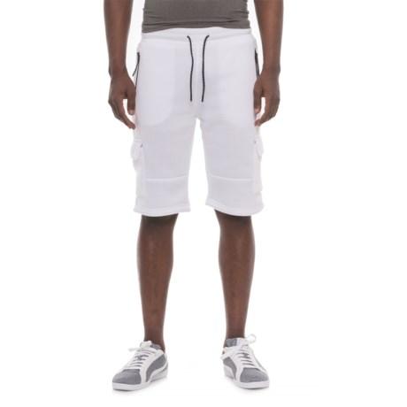 MC Squared Tech Fleece Cargo Shorts (For Men) in White