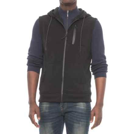MC Squared Tech Fleece Hooded Vest (For Men) in Black - Closeouts