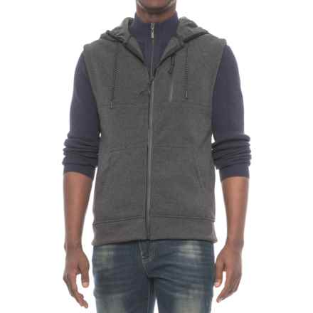 MC Squared Tech Fleece Hooded Vest (For Men) in Charcoal Heather - Closeouts
