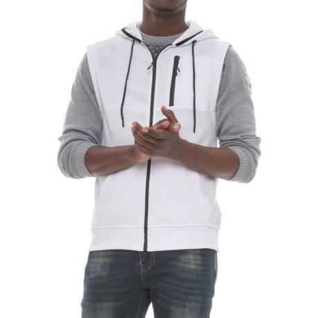 MC Squared Tech Fleece Hooded Vest (For Men) in White